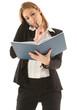 Geschäfftsfrau beim lesen