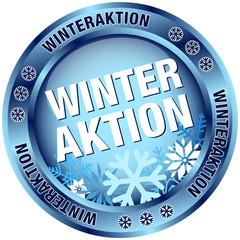 "Button ""Winteraktion"" blau"