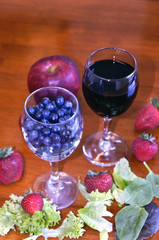 Pick of Antioxidants on Wooden Table