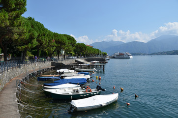 Lenno town at the famous Italian lake Como