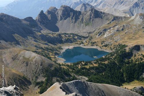 Lac d'Allos vu du Mont Pelat