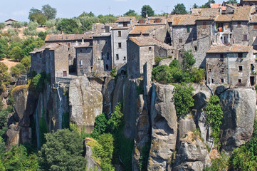 Panoramic view of Vitorchiano. Lazio. Italy.