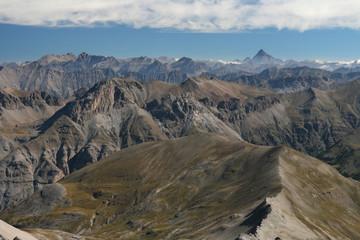 Le Mont Viso (alt 3841 m), vu du Mont Pelat