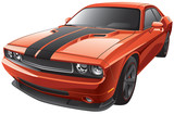 orange muscle car