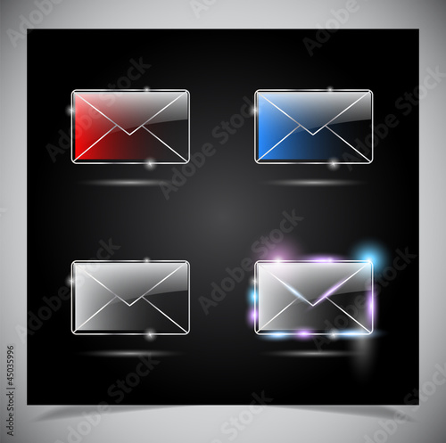 glass glowing transparent icon