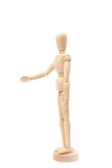 Wood figure handshake