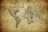 zabytkowe mapy świata 1814 ..