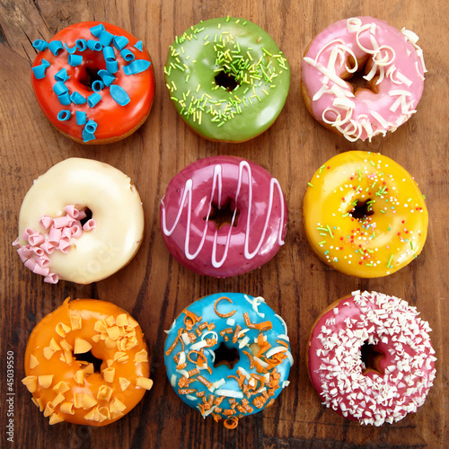 Foto op Canvas Brood baked doughnuts