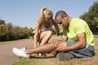 Sport au parc - Homme blessé au genou