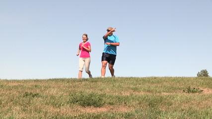 Jogging couple.