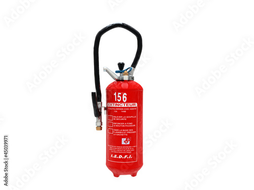 extinguisher isolated on white background