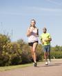 Sport au parc - Course en couple
