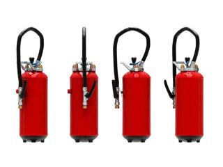 extinguishers isolated on white background