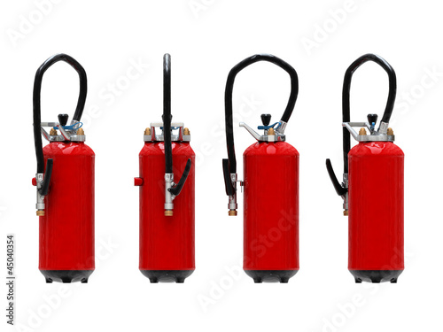 extinguishers isolated on white background