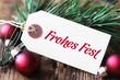 "Etikett ""Frohes Fest"""