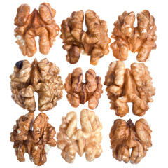 fresh peeled walnut kernels