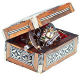 small treasure ancient chest with jewel