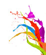 Colored Paint Splashes Isolat...
