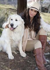 Modelo con perro