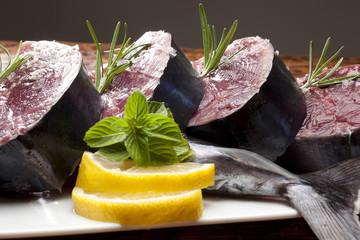 Chopped fresh tuna