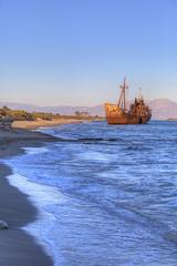 Shipwreck near Githeio,Greece