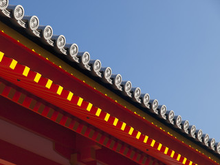 Details of Japanese roof.