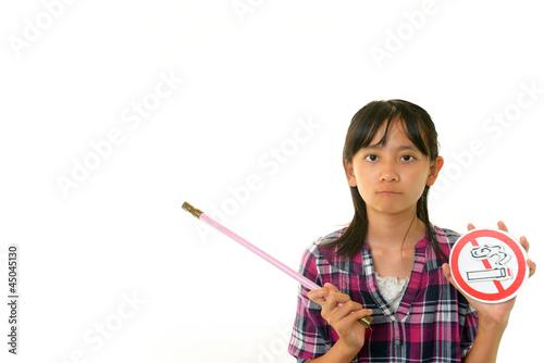 禁煙を訴える女の子