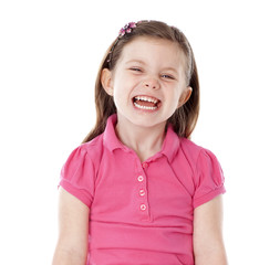 Young girl giggling