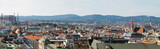 High resolution panorama of Vienna from Stephansdom