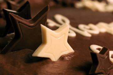 Chocolate cake - Macro close-up