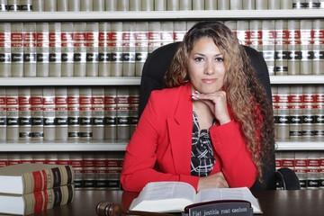 Female Hispanic Lawyer in Office