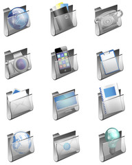 Grey Folder Icons