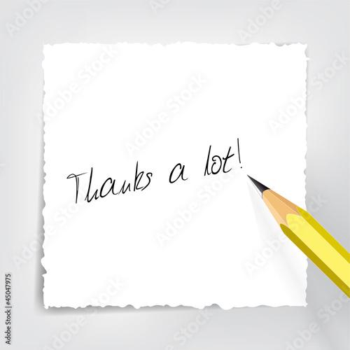 Thanks a lot - Bleistift