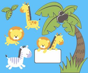 jungle zoo cartoon