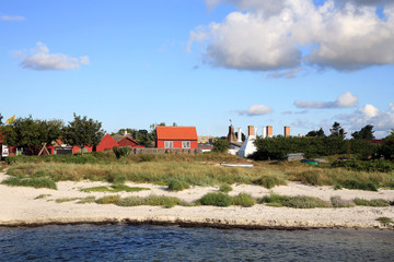 smokehouse chimneys, Snogebaek, Denmark