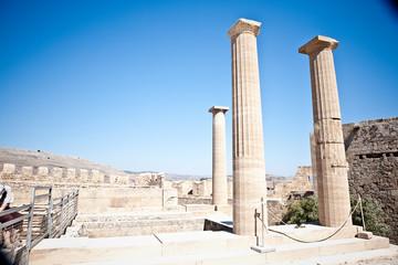 Ancient temple of Apollo at Lindos, Rhodes island, Greece