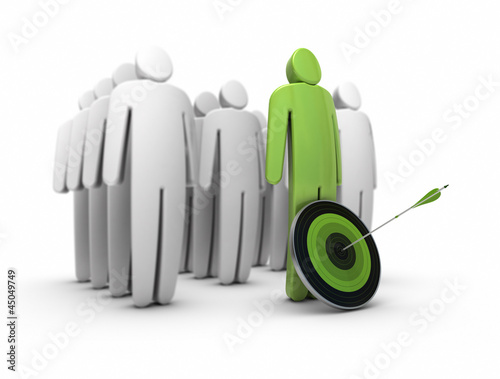 business talent, career. Standing out from the crowd