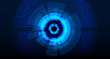 abstract technology background in the blue