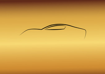 Sarı fonda hayalet araba