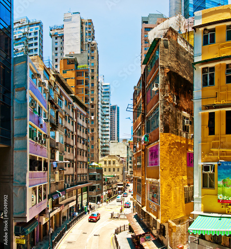 street view in Wan Chai, Hong Kong