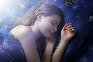 Sleeping Girl at night