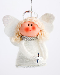 Christmas decoration angel on a string