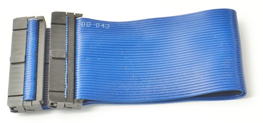 Blue Ide cable from the side