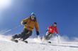 elegant skifahren auf der Piste