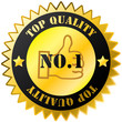Top quality golden sticker with text
