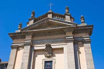 Church of St. Antonio Abate. Bagnaia. Lazio. Italy.