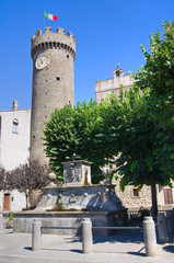 View of Bagnaia. Lazio. Italy.