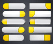 Yellow and white high-detailed modern web buttons.