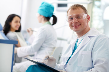 Successful dentist