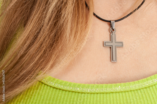 Girl with cross